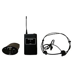 Phonic WH-1S Wireless Headset System (Receiver + Bodypack + Headset) (WH-1S)