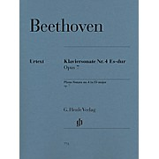 G. Henle Verlag Piano Sonata No. 4 in E-Flat Major, Op. 7 by Beethoven - Henle Urtext Edition