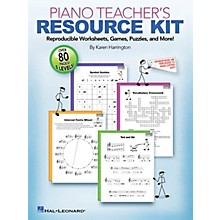 Hal Leonard Piano Teacher's Resource Kit  -Reproducible Worksheets Games Puzzles And More