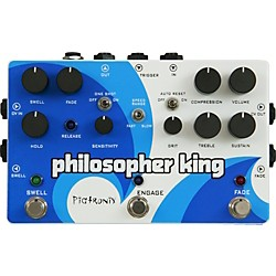 Pigtronix Philosopher King Compressor and Sustainer Guitar Effects Pedal (EGC)