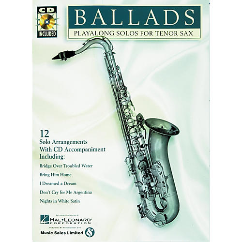 Hal Leonard Play-Along Ballads Book with CD Trombone Tenor Saxophone