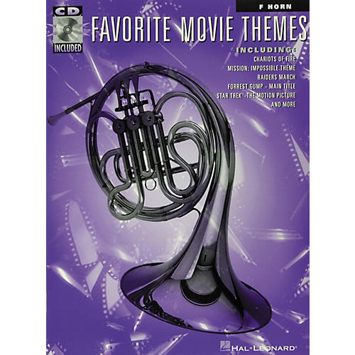 Hal Leonard Play-Along Favorite Movie Themes Book with CD French Horn-thumbnail
