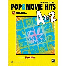 Alfred Pop & Movie Hits A to Z Big Note Piano Book