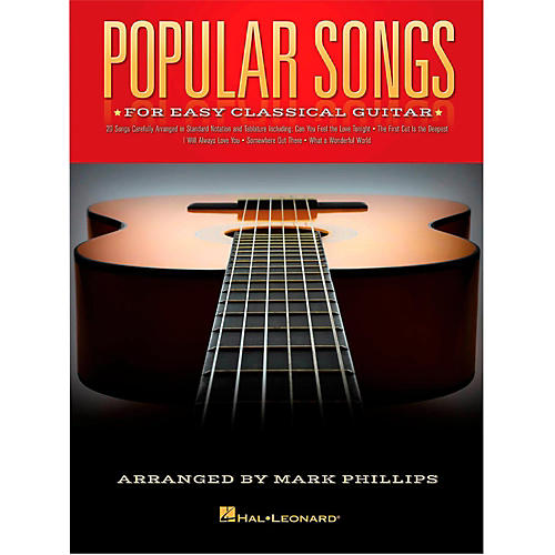 Hal Leonard Popular Songs For Easy Classical Guitar (With Tab)-thumbnail