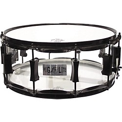Pork Pie Acrylic Snare Drum with Black Powder Hardware (PP6X14PLCB)