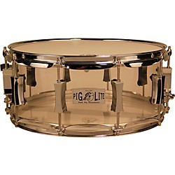 Pork Pie Acrylic Snare Drum with Chrome Hardware (PP6X14PLC)