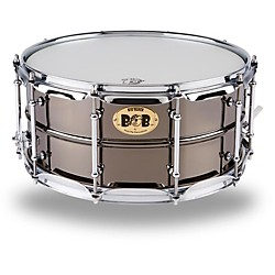 Pork Pie Big Black Brass Snare Drum with Tube Lugs and Chrome Hardware (PP6514BB)