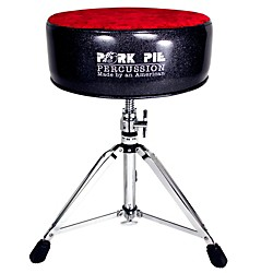 Pork Pie Round Drum Throne (PPRTHGBLKRC)