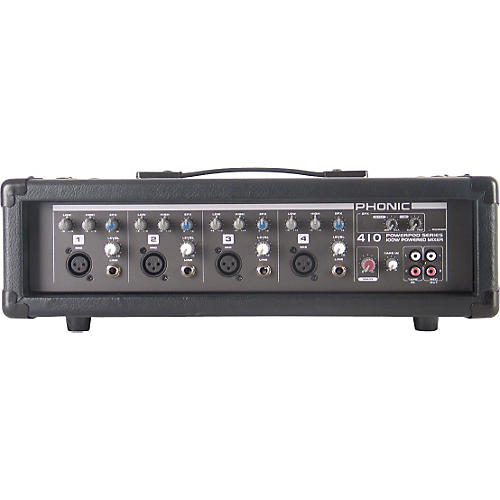 Phonic Powerpod 410 Powered Mixer with Mic and Speaker Cables-thumbnail