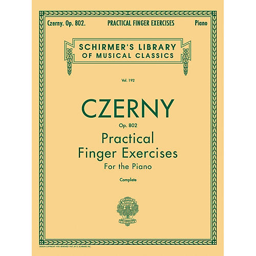 G. Schirmer Practical Finger Exercises Piano Op 802 Complete By Czerny-thumbnail