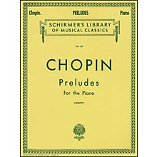 G. Schirmer Preludes for Piano By Chopin