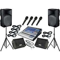 Presonus Studiolive 16.0.2 / Mackie Thump TH-15A Mains and Monitors Package (SL1602TH15AMM)