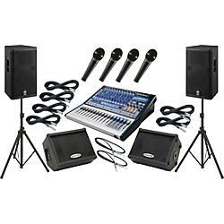 Presonus Studiolive 16.0.2 / Yamaha DSR115 Mains and Monitors Package (SL1602DSR115MM)