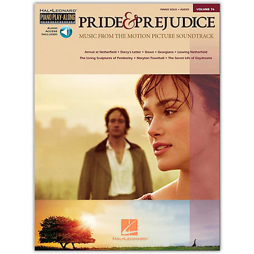 Hal Leonard Pride & Prejudice - Music From The Movie Soundtrack - Piano Play-Along Volume 76 (Book/CD) arranged for piano, vocal, and guitar (P/V/G)
