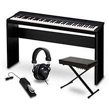 Casio Privia PX-160BK Digital Piano with CS-67 Stand, Sustain Pedal, Deluxe Keyboard Bench and Headphones