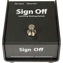 Pro Co Sign Off Latching Mic Mute Switch (CDSO)