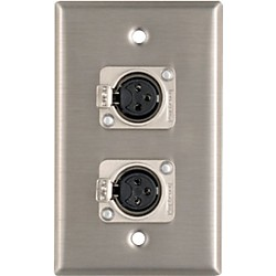 Pro Co WP1013 Dual XLR Female Wall Plate (WP1013)