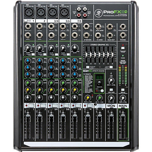 Mackie ProFX8v2 8-Channel Professional FX Mixer with USB-thumbnail