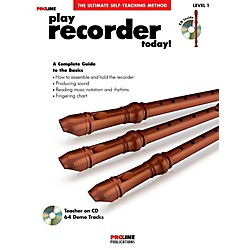 ProLine Play Recorder Today!  Book/CD (121358)