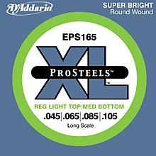 D'Addario ProSteels EPS165 Light Top/Medium Bottom Long Scale Bass Strings
