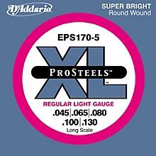 D'Addario ProSteels EPS170-5 Regular Light 5-String Bass Strings