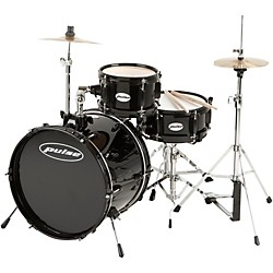 Pulse 3-Piece Deluxe Junior Drum Set (JR300-BK)