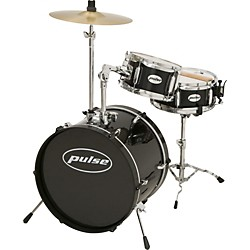 Pulse 3-Piece Kid/Junior Drum Set (JR300NHBLK)