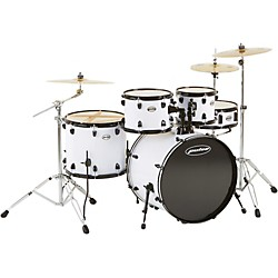 Pulse 4000 Series 5-Piece Drumset with PDP Hardware and Meinl Cymbals (PS4522WHT-HWC)