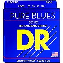DR Strings Pure Blues Heavy 4-String Bass Strings (50-110)