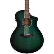 Breedlove Pursuit Series Concert CE Trans Lagoon Burst Engelmann Spruce - Maple Acoustic-Electric Guitar