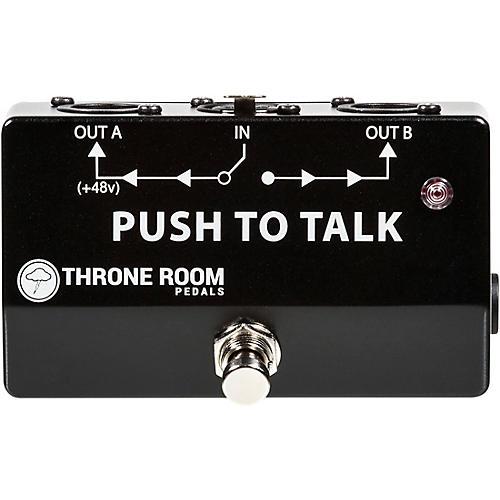 Throne Room Pedals Push To Talk Box Momentary XLR A/B Switcher-thumbnail