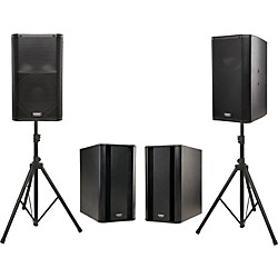 QSC K12 Powered Speaker Dual Sub Package (K12KSUB2)