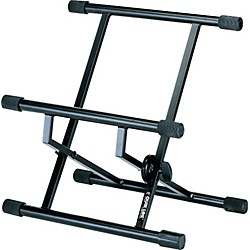 Quik-Lok Double-Brace Low-Profile Amp Stand (AMS-BS-317BK)