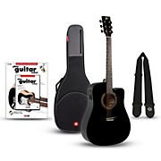 Rogue RA-090 Dreadnought Cutaway Acoustic-Electric Guitar Bundle