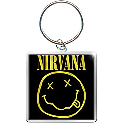 "ROCK OFF Nirvana ""Smiley"" Square Metal Keychain (NIRVTWKEY01)"