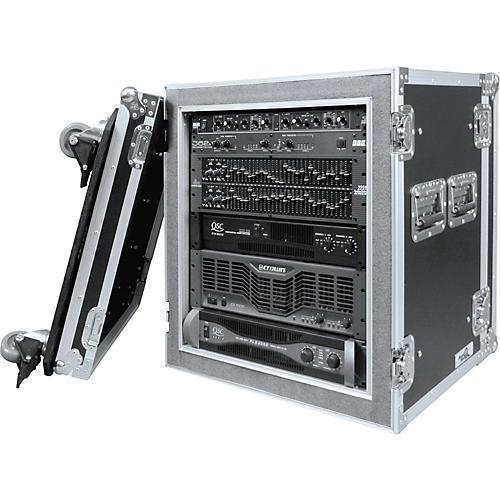 Road Ready RR12UADSW 12U Deluxe Shock Mount Amplifier Rack Case Black
