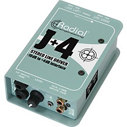 Radial Engineering J+4 Stereo Line Driver -10dB to +4dB Interface (R800 8015)