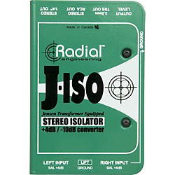 Radial Engineering J-ISO Jensen Transformer Equipped Stereo Isolator +4dB to -10dB Converter (R800 1025)