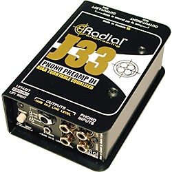Radial Engineering J33 RIAA Turntable Preamp Direct Box (R800 1300)