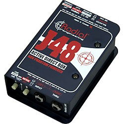 Radial Engineering J48 MK2 48V Phantom Power Active Direct Box (R800 3001 00)