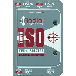 Radial Engineering TWIN ISO Passive Line-Level Isolator (R800 1024 00)