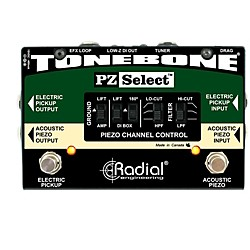 Radial Engineering Tonebone PZ Select Piezo and Magnetic Pickup Selector/ DI Box (R800 7208)