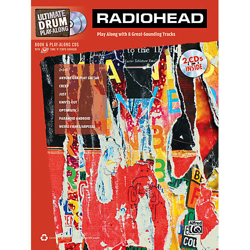 Alfred Radiohead Ultimate Play-Along Drum Book & 2 CDs-thumbnail