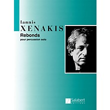 Editions Salabert Rebonds Part A and Part B for Percussion (1987-1989) Marching Band Percussion Series by Iannis Xenakis