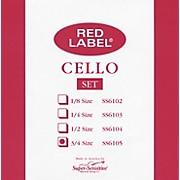 Super Sensitive Red Label Cello String Set