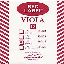 Super Sensitive Red Label Viola D String