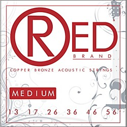 Red Strings Copper Bronze Acoustic Guitar Strings - Medium (7313)