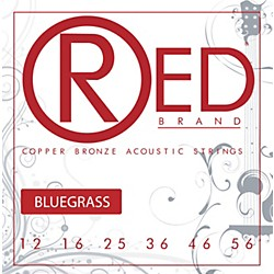 Red Strings Copper Bronze Acoustic Guitar Strings Bluegrass (7323)