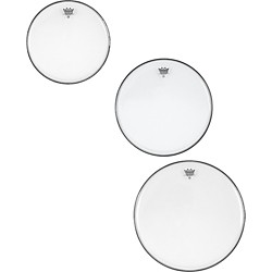 Remo Ambassador Clear Tom Rock Drumhead Pack (PP-1700-BA-)