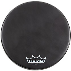 Remo Black Suede PowerMax Series Bass Drumhead with Crimplock (PM-1814-MP-)